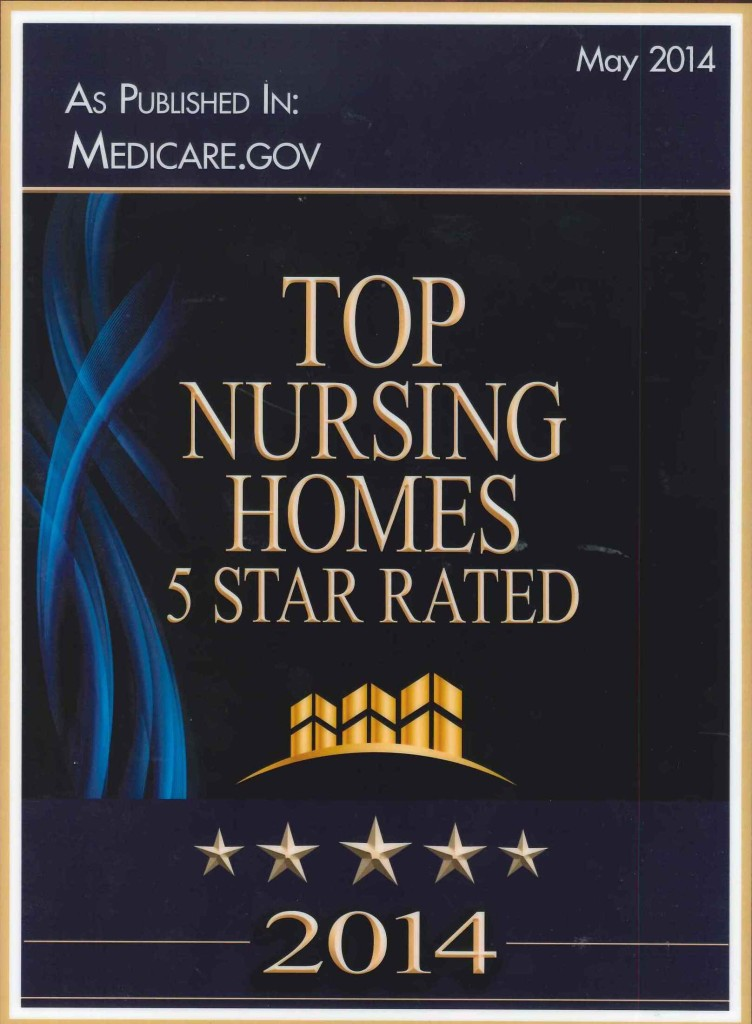 Five Star Plaque 2015
